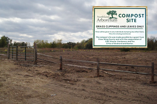 The Arboretum's new compost site which opened the first of October.