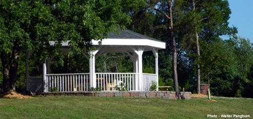 The Holder Gazebo used for events and just relaxing.