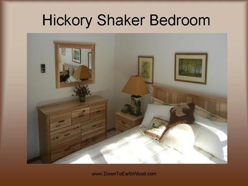 Hickory Shaker Bedroom set - Clear Coat Finish