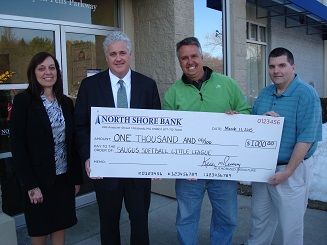 North Shore Bank Donates to New Softball Field in Saugus