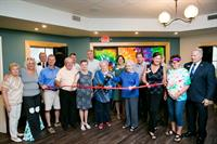 Ribbon Cutting on the Clubhouse