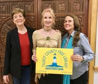 Poets Sue Ellen Thompson and Naomi Shihab Nye with Sabine M. Simonson