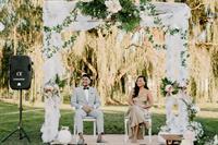 GARDEN BACKDROP WEDDING