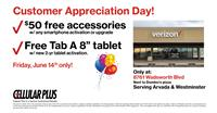Customer Appreciation Day at Verizon-Cellular Plus