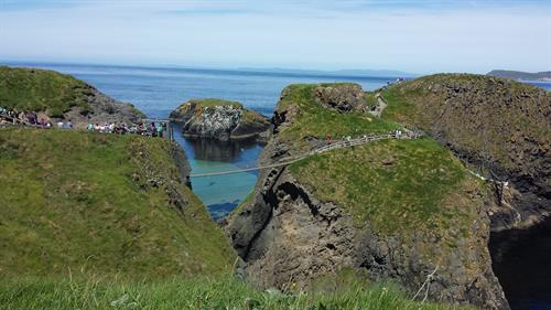 Carrick a rede rope bridge in Ireland