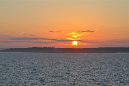 Sunset over Bar Harbour, NY Cruise