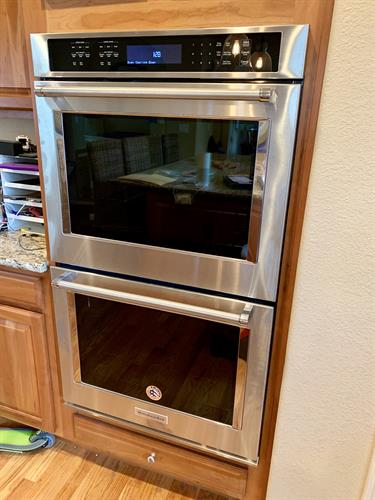 "30"" Stainless Steel Double Wall Oven Installation in Denver!"