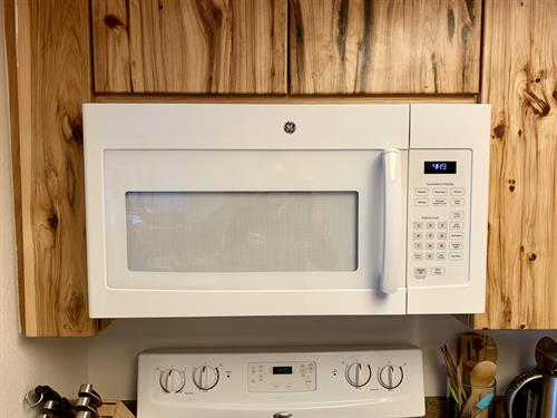 White GE Microwave Installation in Lakewood!