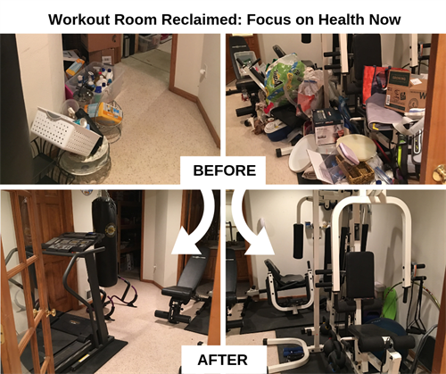 Before & After - Workout Room Organization