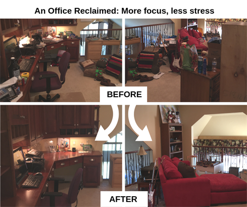 Before & After - Home Office Organization