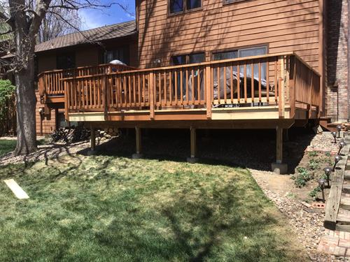 Western Cedar deck extension completion