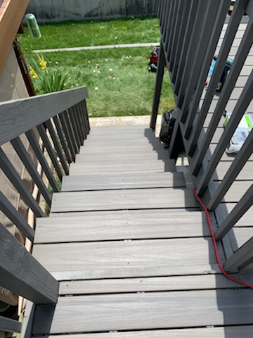 Stair case in Trex Composite Decking