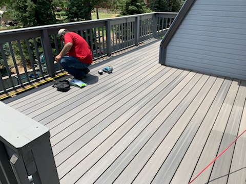 Working on a Trex Composite Decking