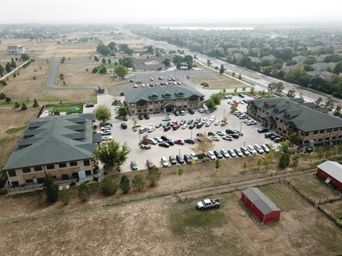 Aerial image showing the BPC in Broomfield, Colorado.