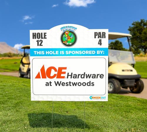 Local Golf Charity Yard Signs
