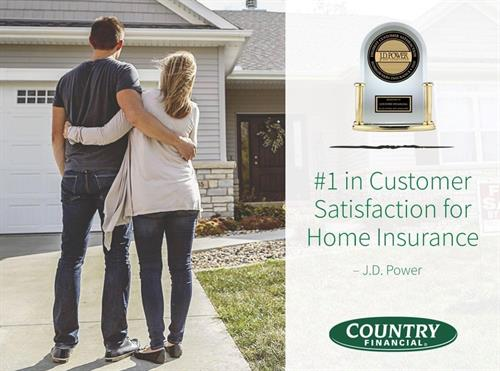 We are #1 for Customer Satisfaction for home insurance by JD Power