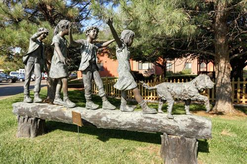 Springwood has four bronze statues on our campus in honor of our founding partners and their families