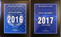 Named Best Assisted Living in Arvada two consecutive years - 2016 and 2017 - Member of Arvada Business Hall of Fame
