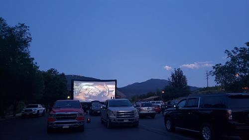 Epic Experience hosted a social distance movie night