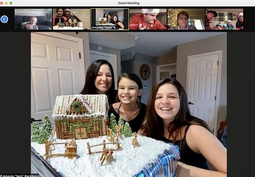 Virtual Gingerbread Competition with survivors and their familes