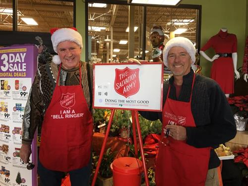 We ring bells for Salvation Army each year in support of their efforts to help others in our community.