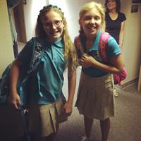 Excited 6th Graders on their first day of school!