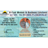 Women in Business Virtual Luncheon July 2020: You, Me & Work: It's a Balancing Act