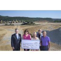 Palmerton Auxiliary Presents Check to St. Luke's for Carbon Campus