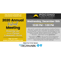 Pocono Chamber Announces 2020 Virtual Annual Meeting, Honoring Community Heroes