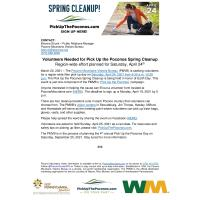 Volunteers Needed for Pick Up the Poconos Spring Cleanup