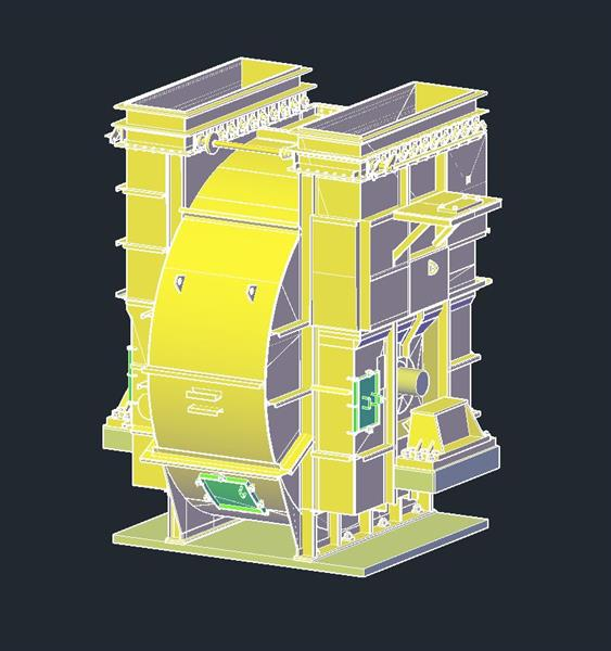 AutoCAD model of a blower.