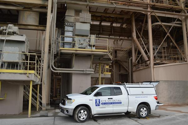 Scanning at a local concrete plant.