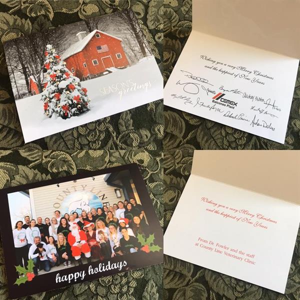 Personalized Christmas cards are a great way to appreciate your employees and clients. We also have cards for any holiday or birthdays.