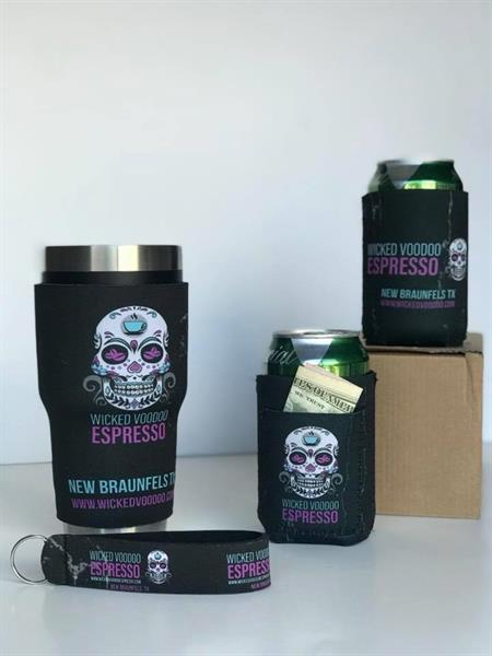 Full sublimation koozies in just about any size and the artwork is unlimited!