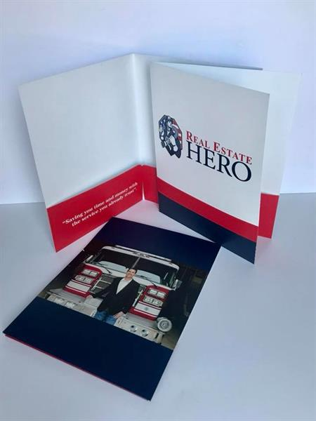 Put the final touch on your client folders by personalizing it with your logo.