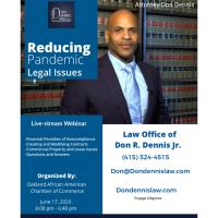 Reducing Pandemic Legal Issues