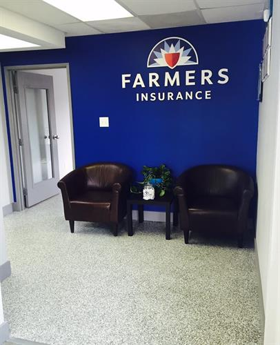 Come visit us over here at Jeff Teasleys office with Farmers Insurance!