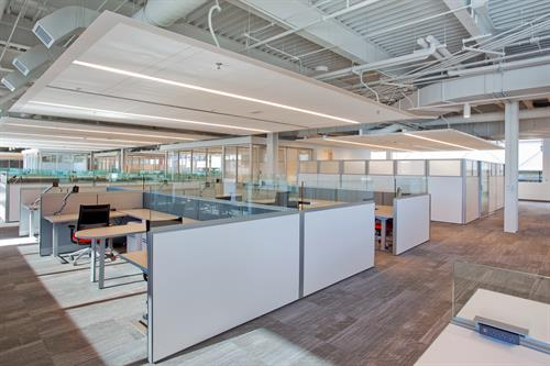 Open space cubicles