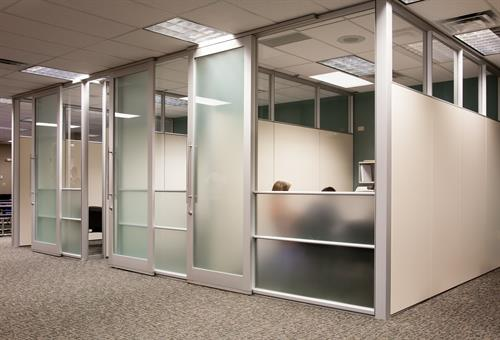 Walled office