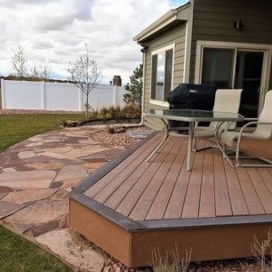 Custom Built Timbertech Deck This custom built deck uses the newest in composite material; TimberTech. This material is warrantied for life and we are a certified builder and installer for this custom deckwork.