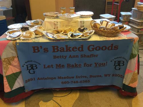 Home baked pies,cinnamon rolls, candies,breads, and bars.