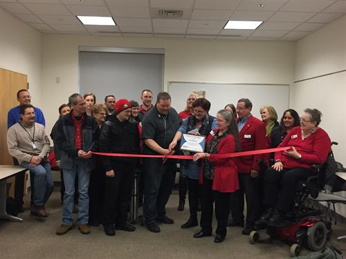 Ribbon Cutting Ceremony thanks to the Red Carpet Committee!! Awesome event!