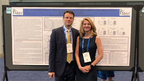 20Lighter co-founders Jess & Gerry at the 2018 American Psychiatric Association Annual Meeting