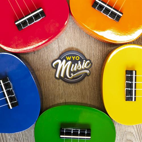 Colorful Ukulele WYOmusic merchandise photo
