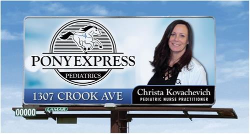 Look for our billboard! South Converse by the baseball fields!