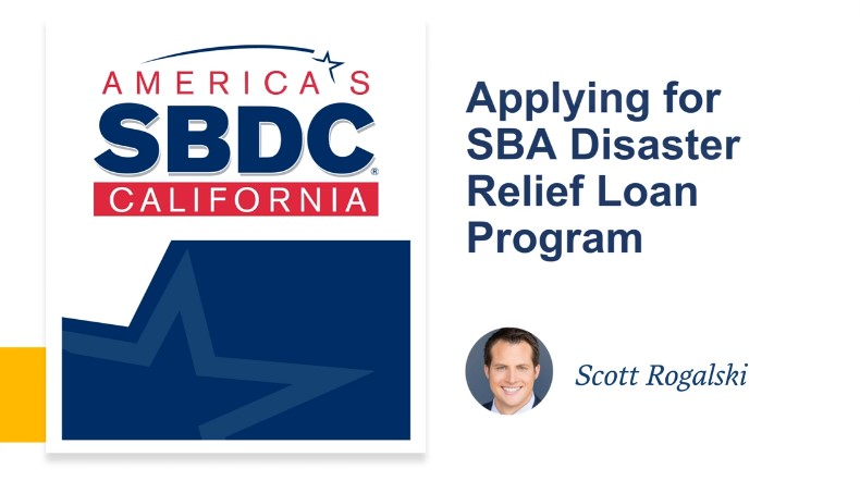 Image for SBA Disaster Relief Loan - Webinar Recording