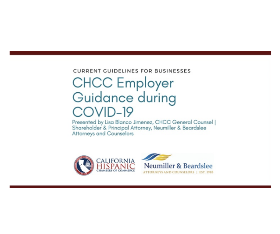 Image for CHCC Employer Guidance During COVID-19 (Webinar replay)