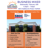 SHCC February Mixer Hosted by Solano SBDC
