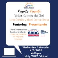 SHCC Virtual Chat with Solano SBDC/ SHCC Charla Virtual Con Solano SBDC
