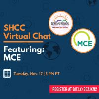 SHCC Virtual Chat: A Presentation from MCE - **CANCELLED